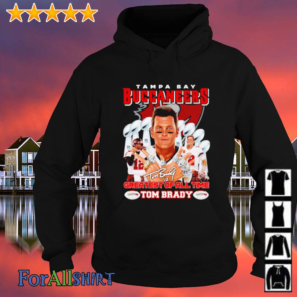 Tampa Bay Buccaneers Greatest of all time Tom Brady signature s hoodie