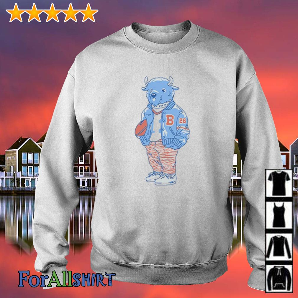 Sporting Buffalo s sweater