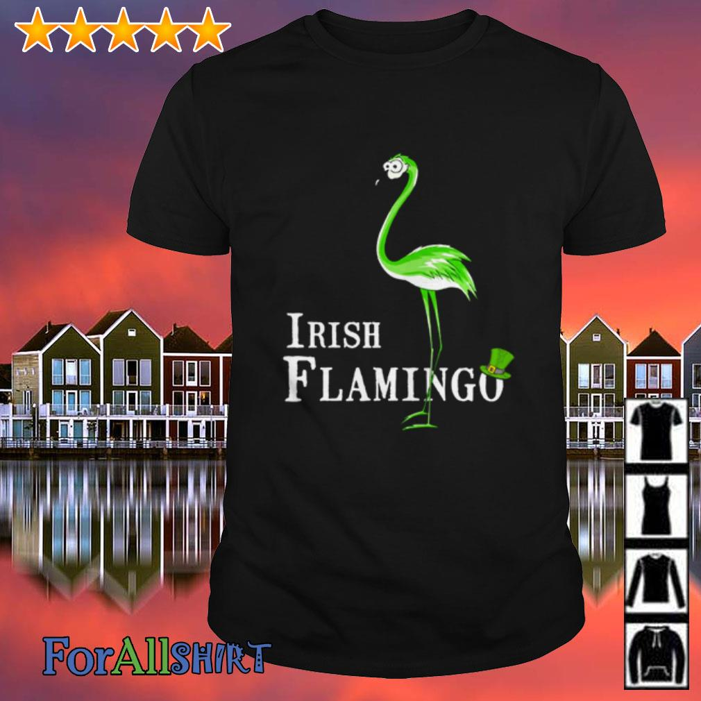 This image has an empty alt attribute; its file name is irish-flamingo-shamrock-shirt.jpg