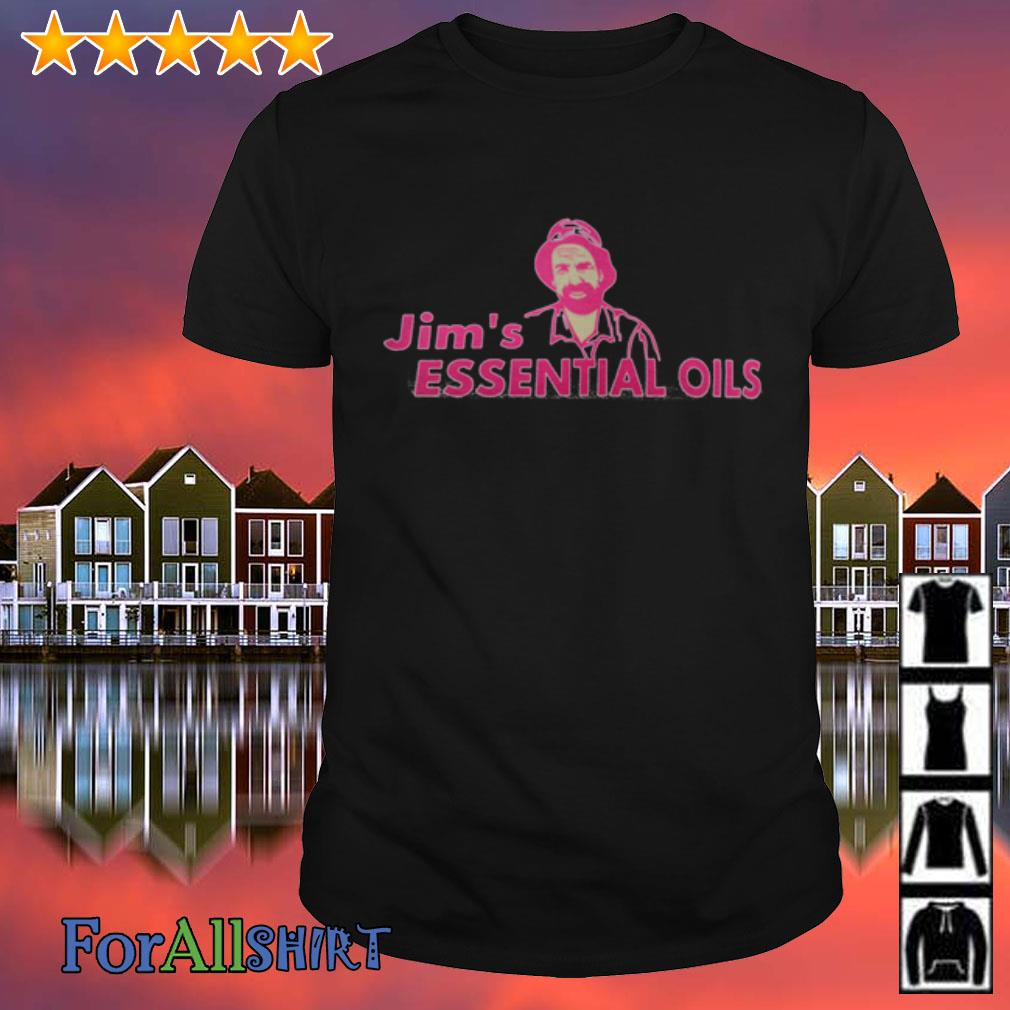 This image has an empty alt attribute; its file name is jims-essential-oils-shirt.jpg