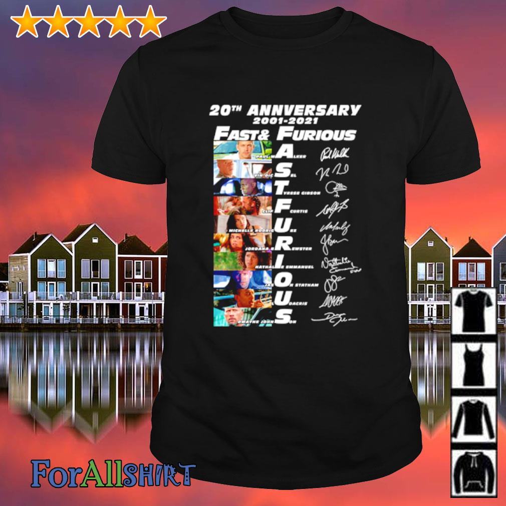 20th anniversary 2001 2020 Fast and Furious signature shirt
