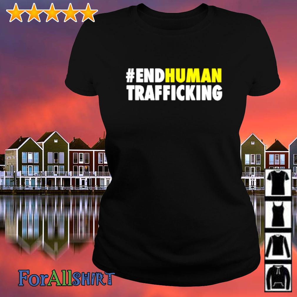 #endhuman End Human Trafficking s ladies-tee
