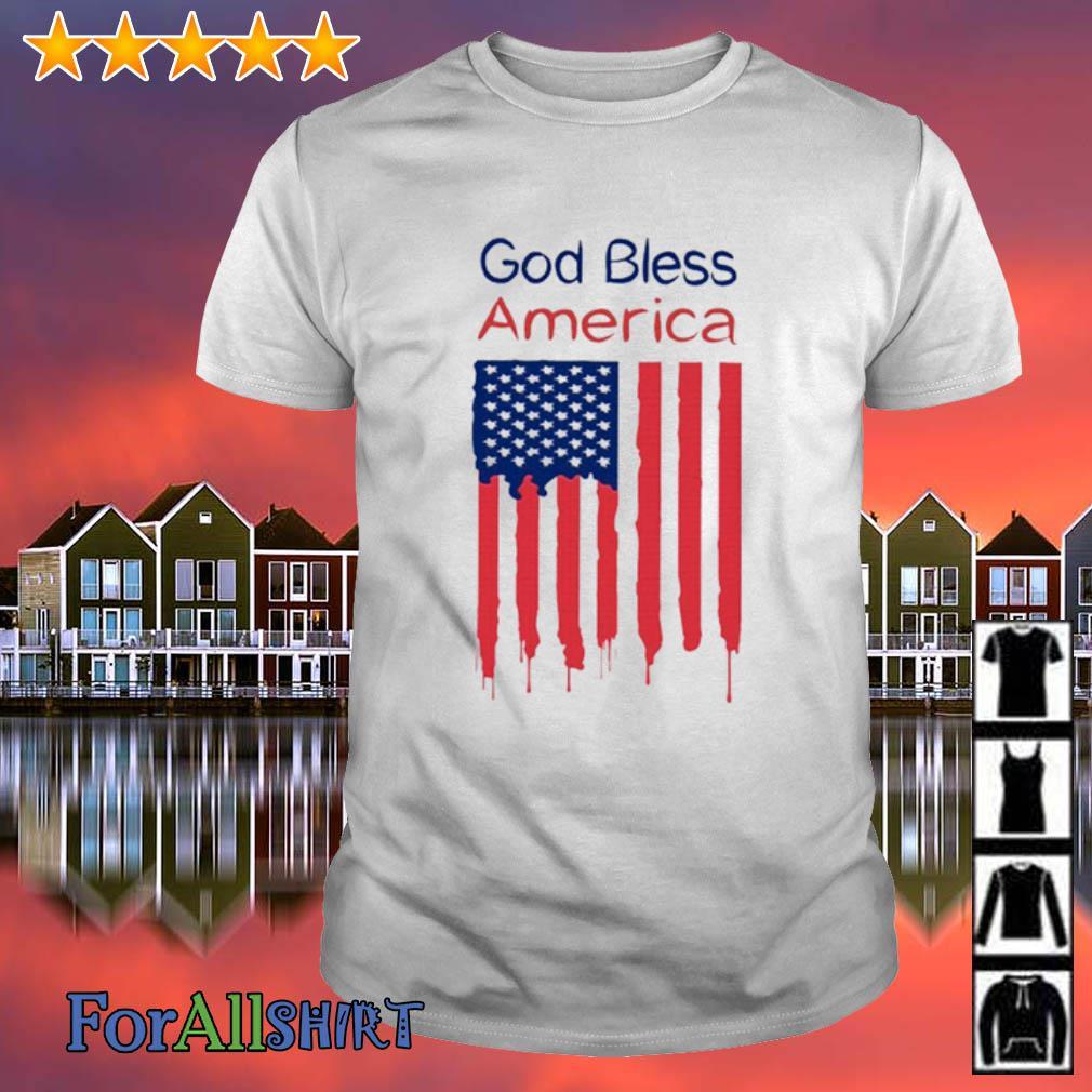 God save america flag shirt