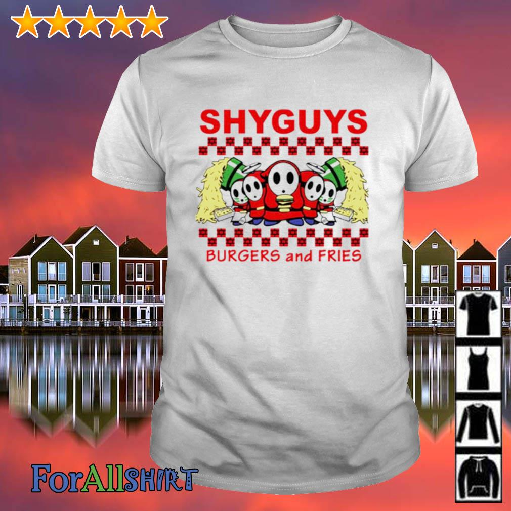 Shyguys Burgers and Fries shirt
