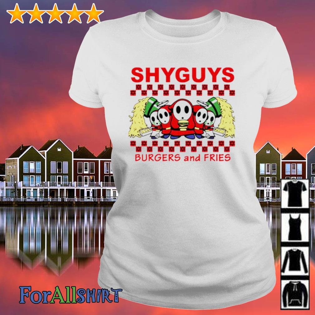 Shyguys Burgers and Fries s ladies tee