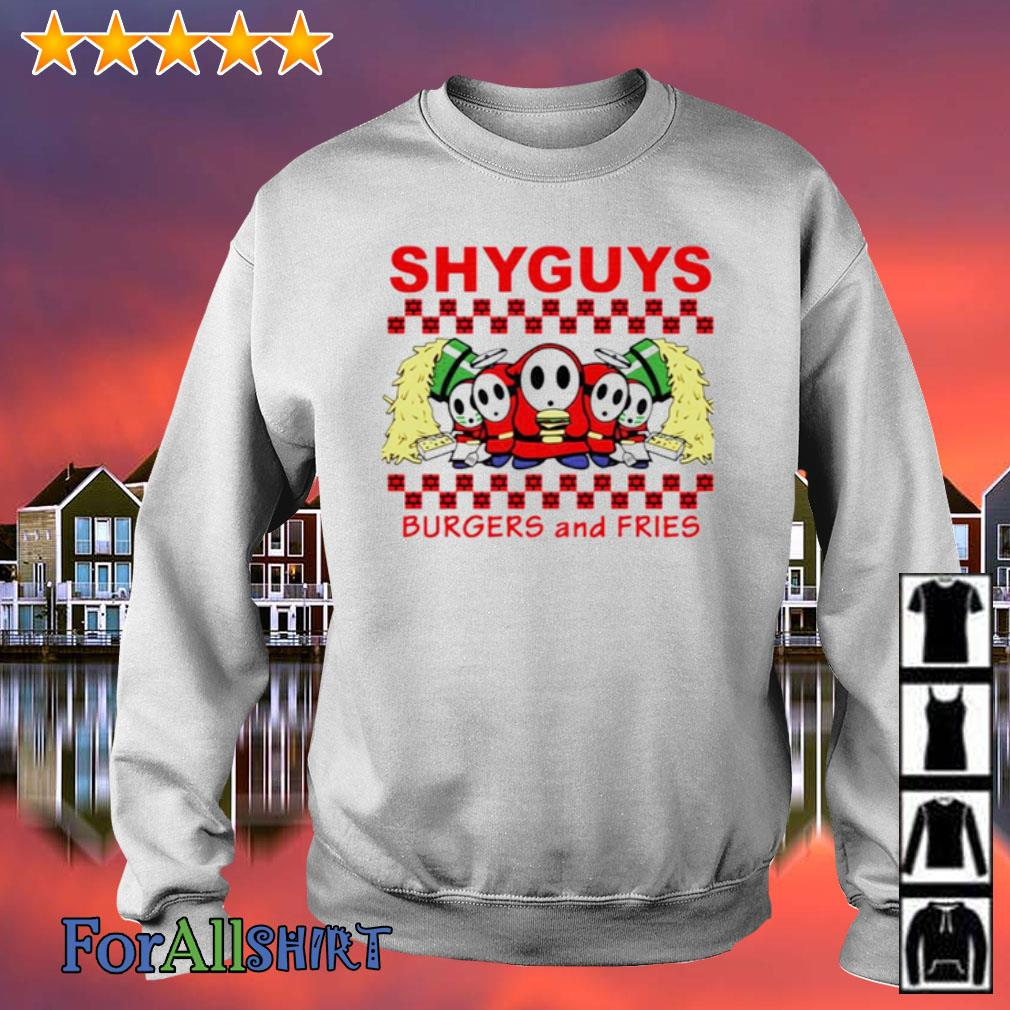Shyguys Burgers and Fries s sweater