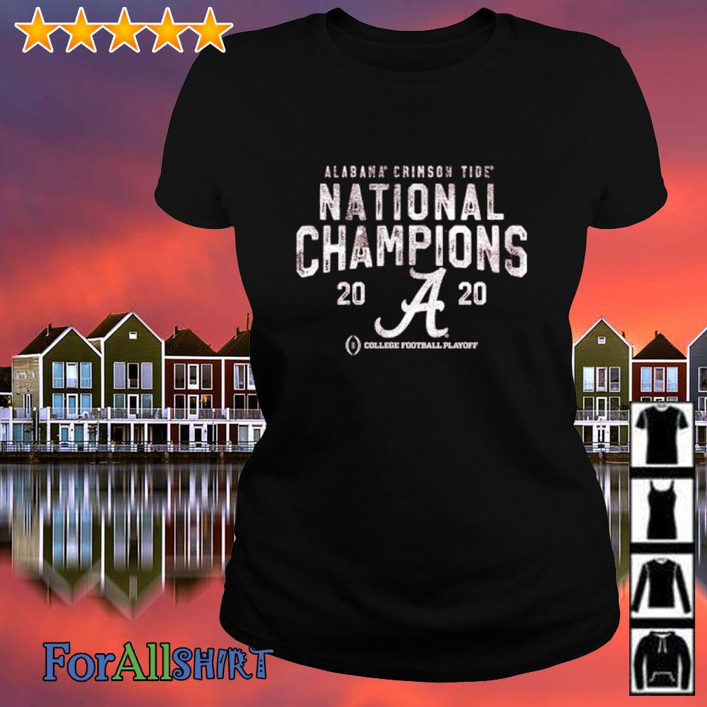 Alabama Crimson Tide National Champions 2020 College football playoff s ladies tee
