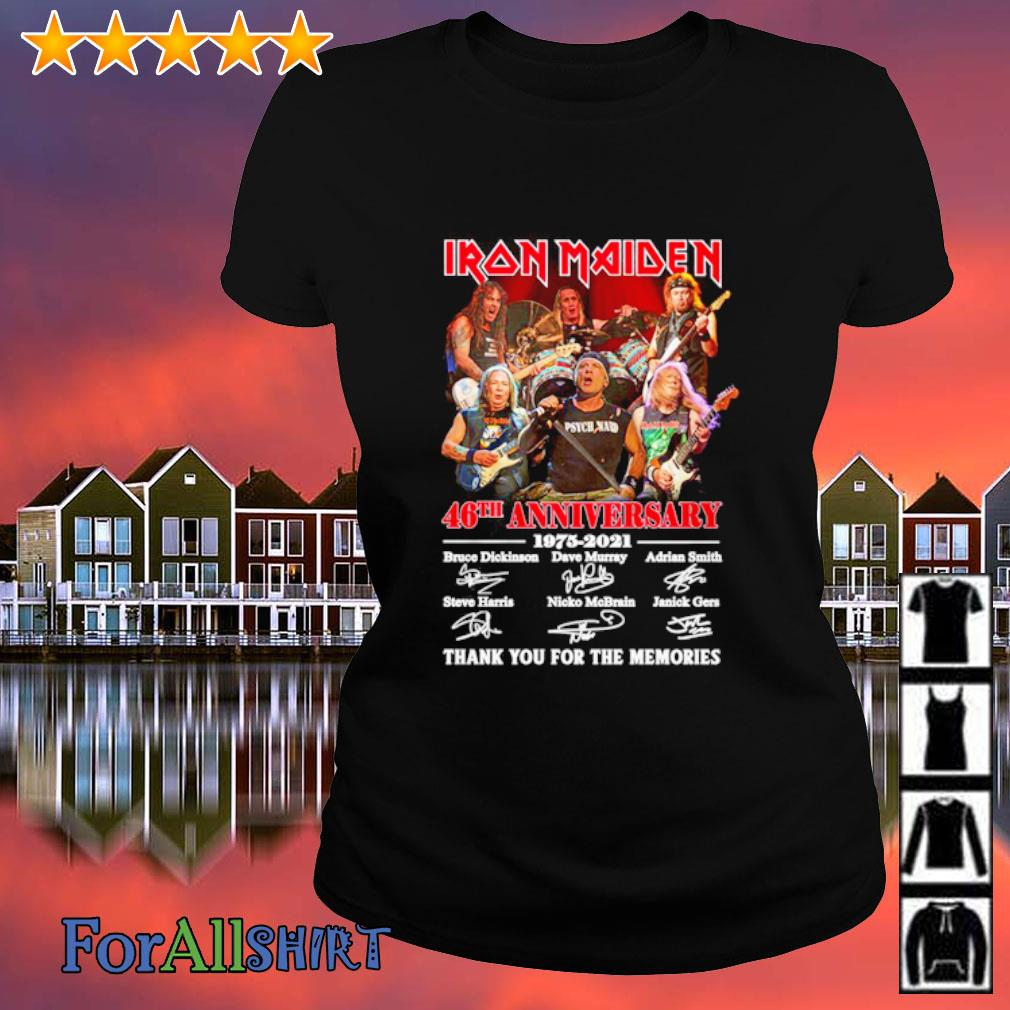 Iron Maiden 46th anniversary 1975 2021 thank you for the memories s ladies tee