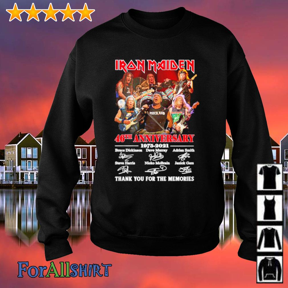 Iron Maiden 46th anniversary 1975 2021 thank you for the memories s sweatshirt